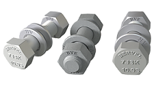 Hexagon bolt, nut and washers assembly for high-strength structural bolting assemblies for preloading. EN 14399:3-2005. System HR