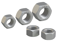 Hexagon nut for high-strength structural bolting with large width across flats DIN EN 14399-3-2015 (DIN 6915), ISO 4775:1984