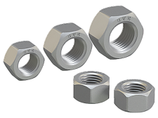 Hexagon nut for high-strength structural bolting with large width across flats for bridge building